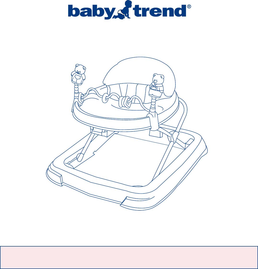 baby trend baby walker 3635 user guide manualsonline com rh babycare manualsonline com Graco Bassinet Instruction Manual Instruction Manuals for People