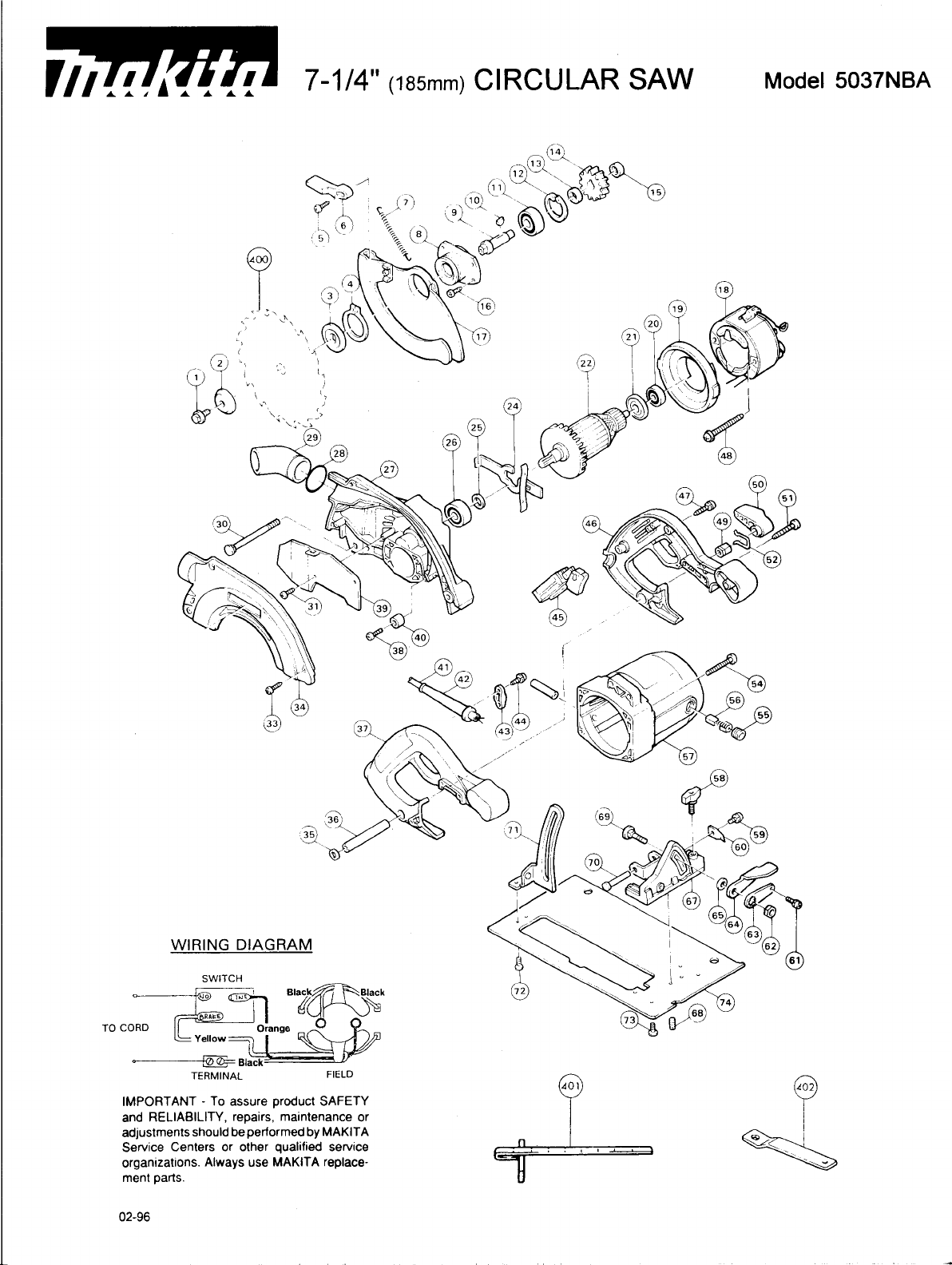 makita saw 5037nba user guide