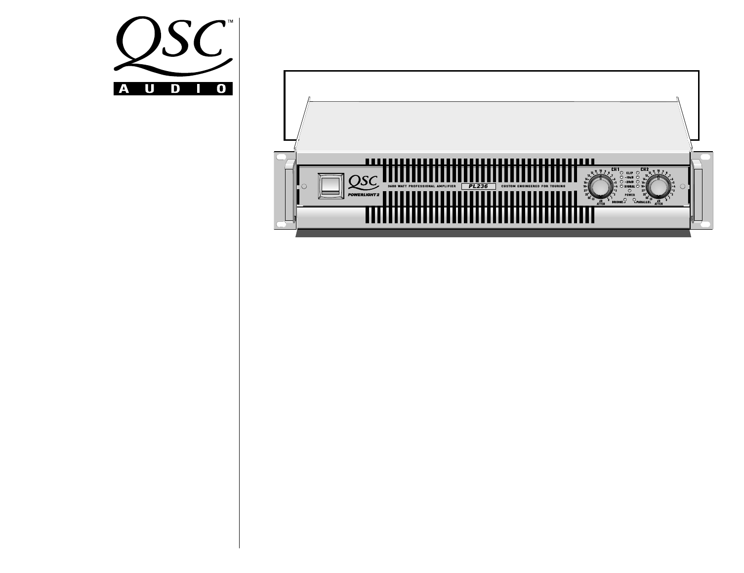 qsc audio stereo amplifier pl236 user guide manualsonline com rh audio manualsonline com