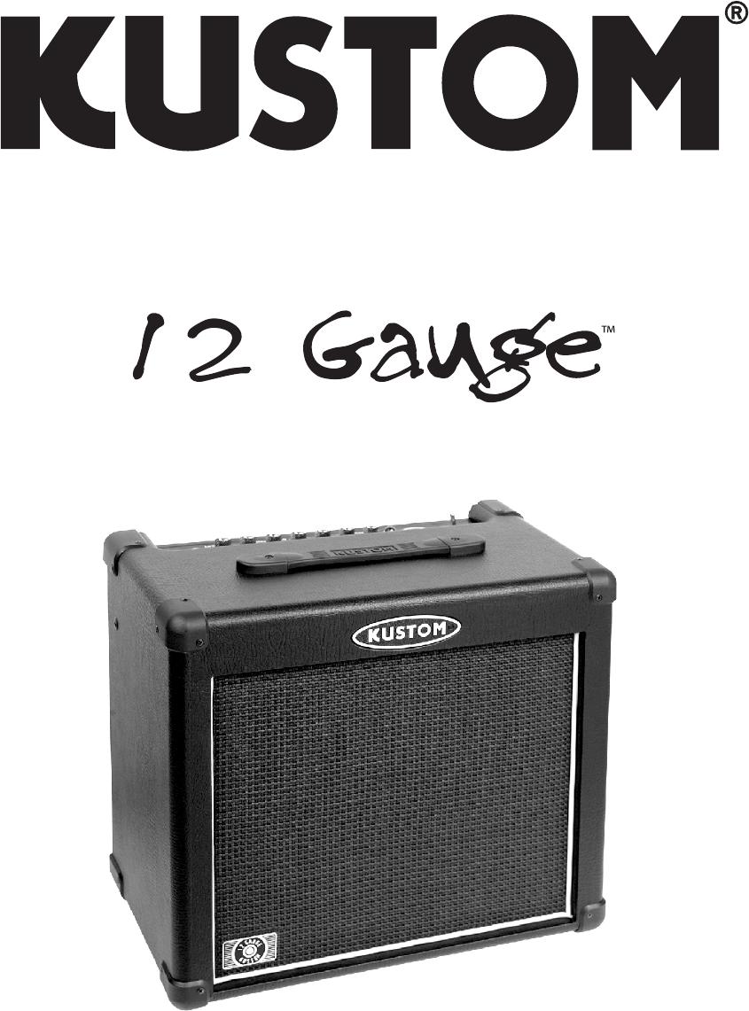 Kustom Stereo Amplifier 12 Gauge User Guide   ManualsOnline.com