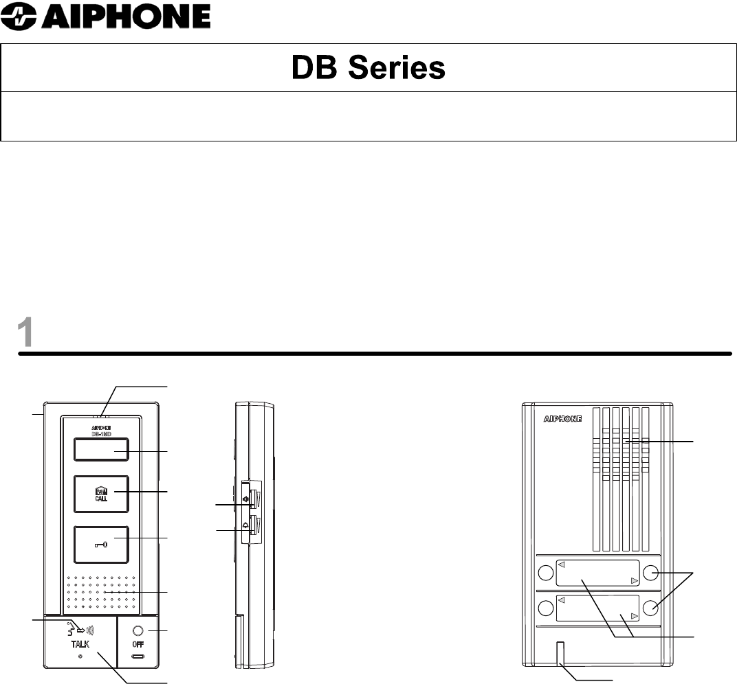 Aiphone Intercom System Db User Guide Manualsonlinecom Wiring Instruction Diagram Manual