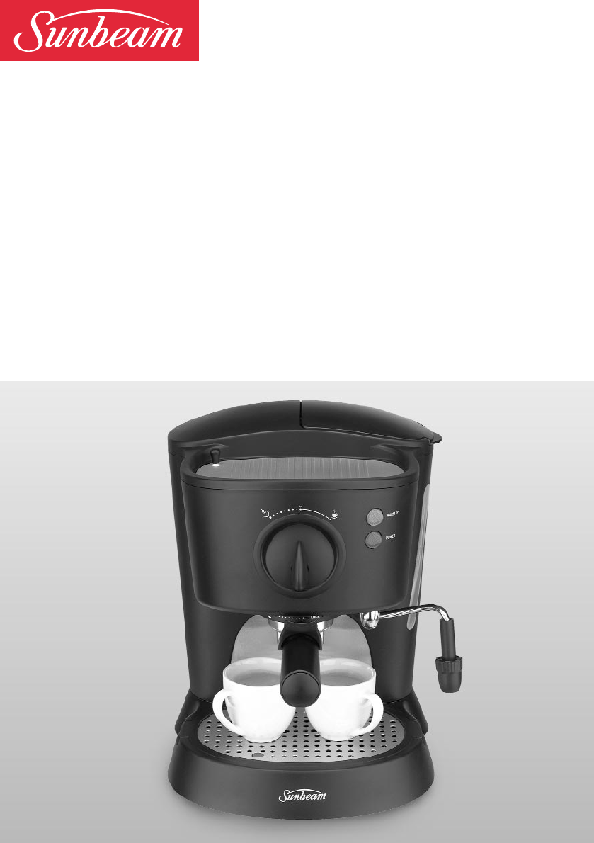 Sunbeam Coffee Maker Instructions : Sunbeam Espresso Maker EM3500 User Guide ManualsOnline.com