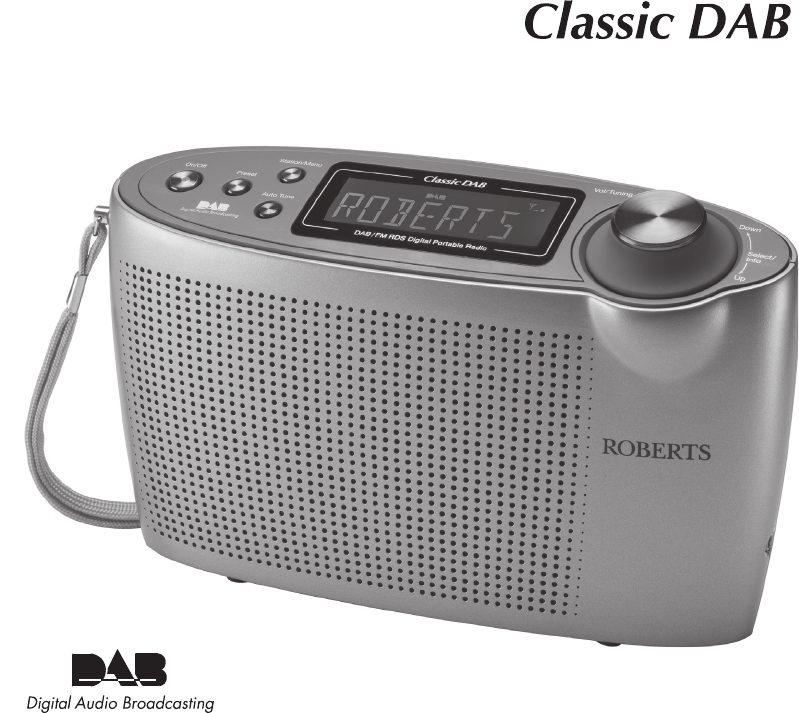roberts radio portable radio classic dab user guide. Black Bedroom Furniture Sets. Home Design Ideas