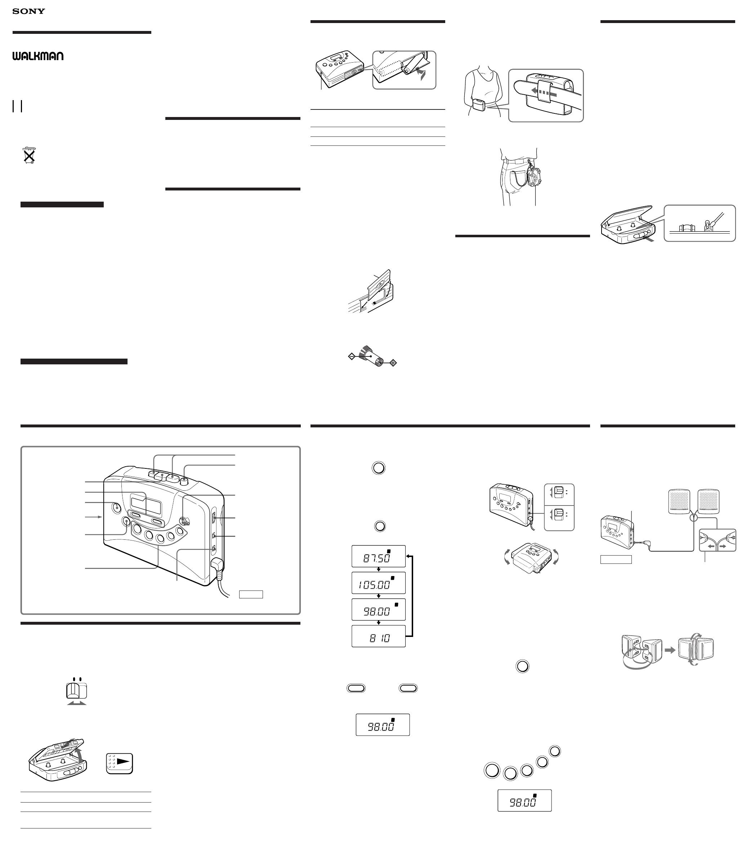 sony cassette player wm fx269 user guide manualsonline com rh audio manualsonline com Sony Boombox with Cassette Player Sony CD Cassette Player Recorder