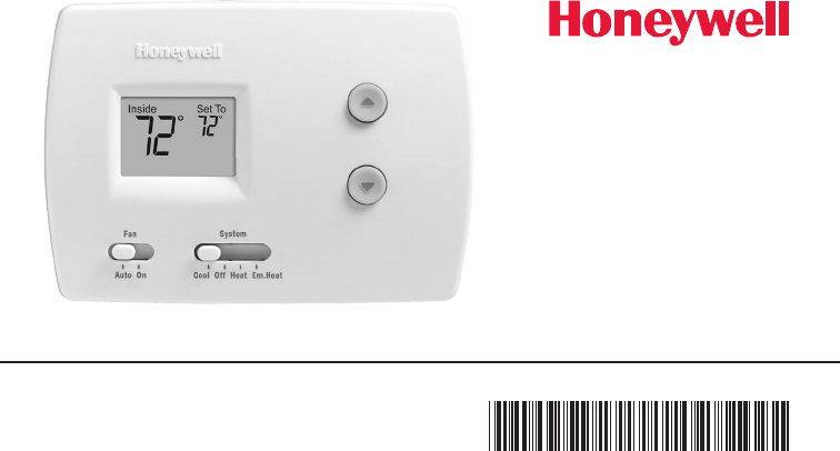 Honeywell Thermostat Rth3100c1002  E1 User Guide