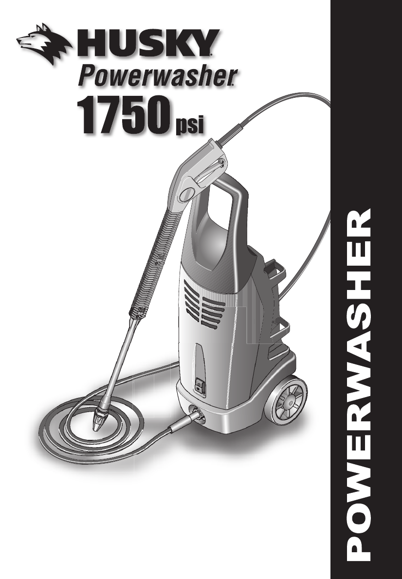 Husky 1750 psi pressure washer