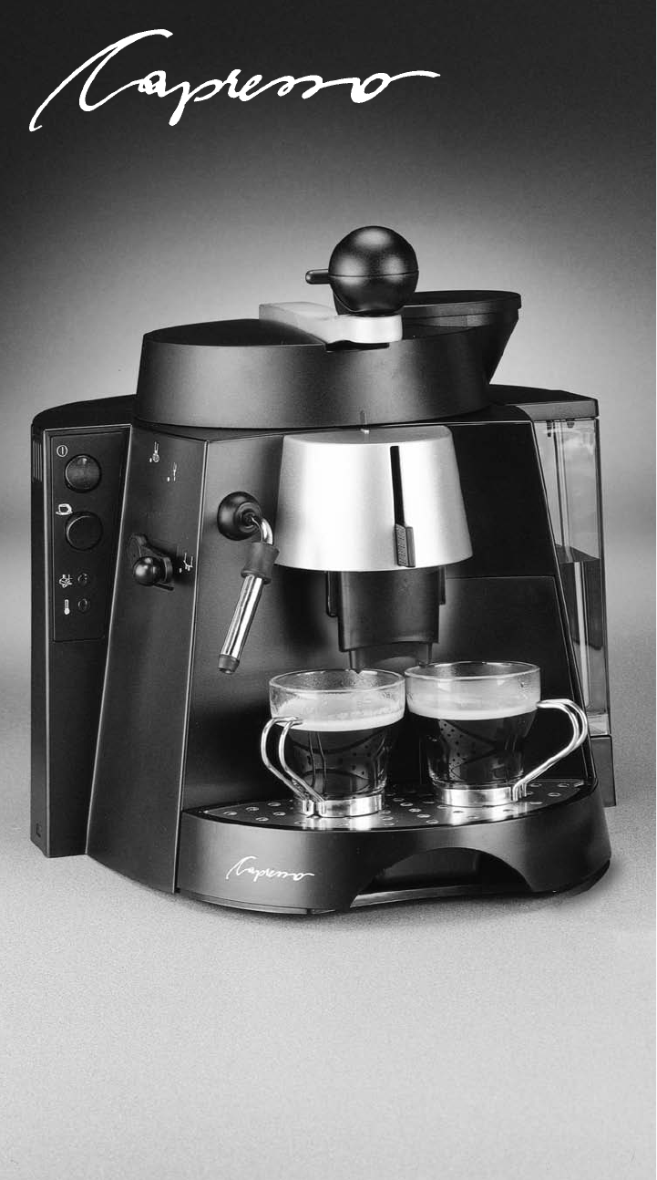Capresso Coffee Maker Instructions : Capresso Coffeemaker 121 User Guide ManualsOnline.com