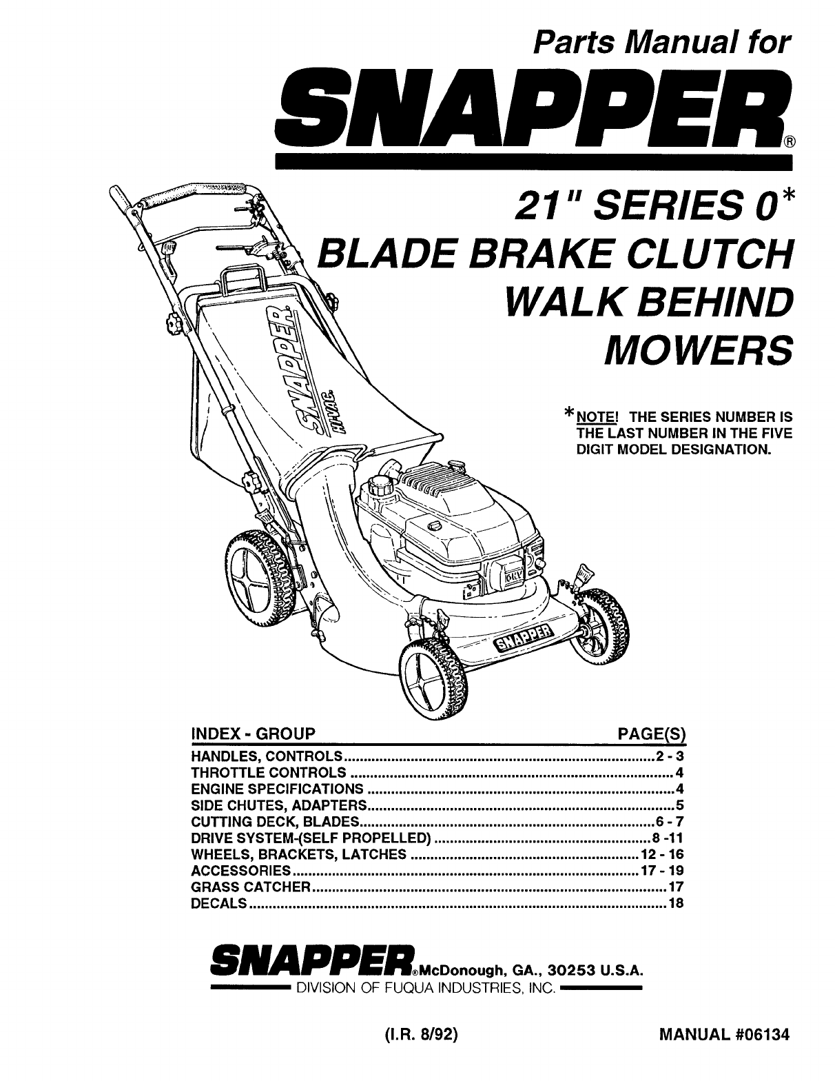 Snapper Manual Auto Electrical Wiring Diagram Z1804k Diagrams Lawn Mower 06134 User Guide