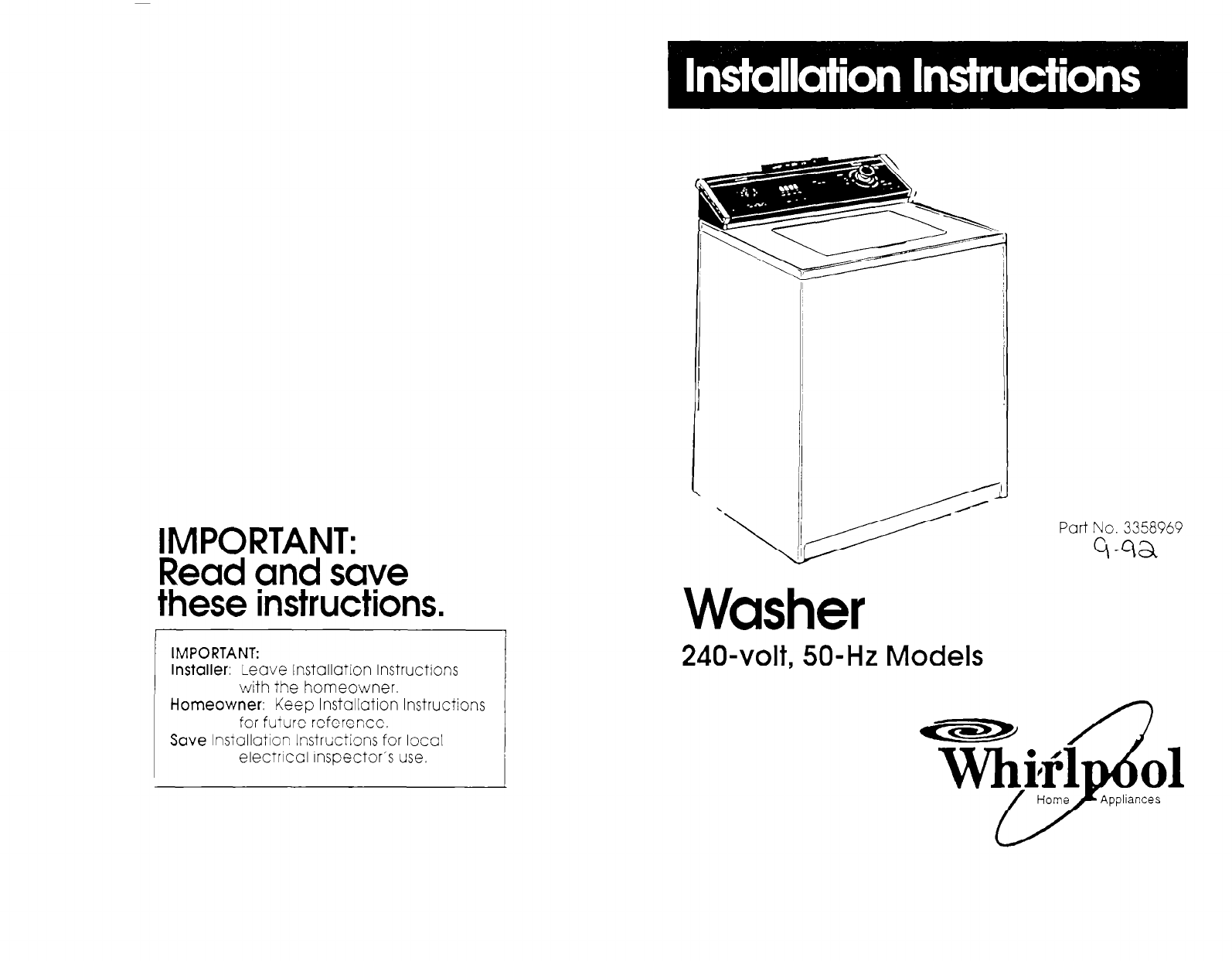 whirlpool washer 3358969 user guide