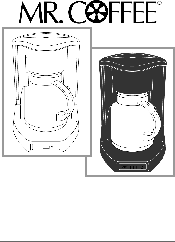 Mr. Coffee Coffeemaker TC80, TC81, TC83, TC83D, CBTC80, TCX83 User Guide ManualsOnline.com