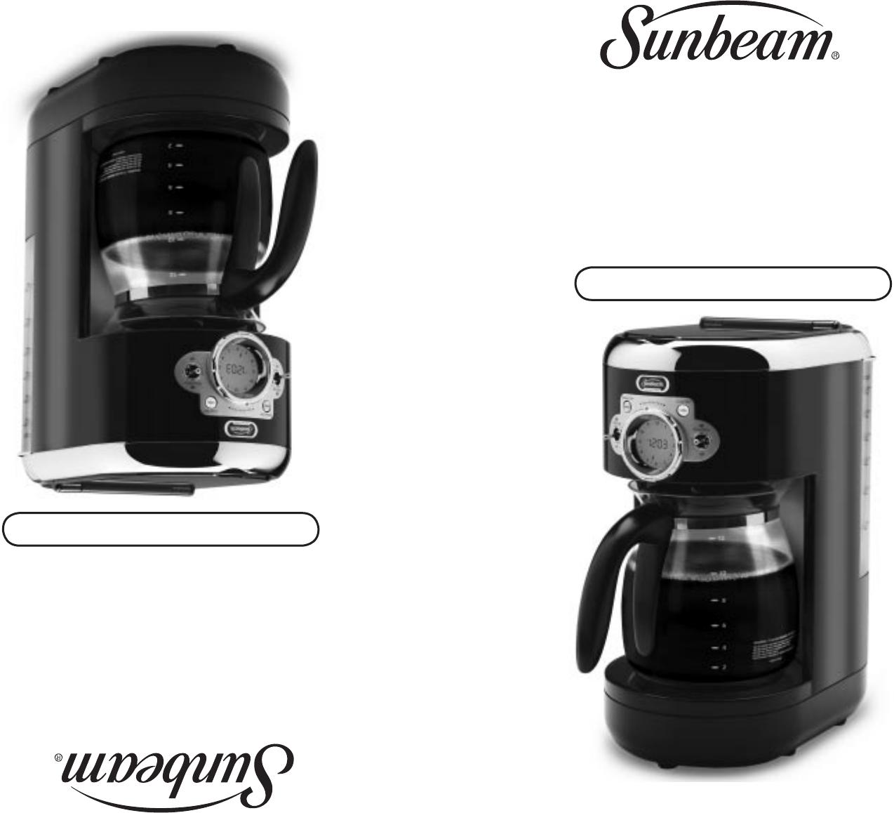 Sunbeam Coffeemaker HDX23-33 User Guide ManualsOnline.com