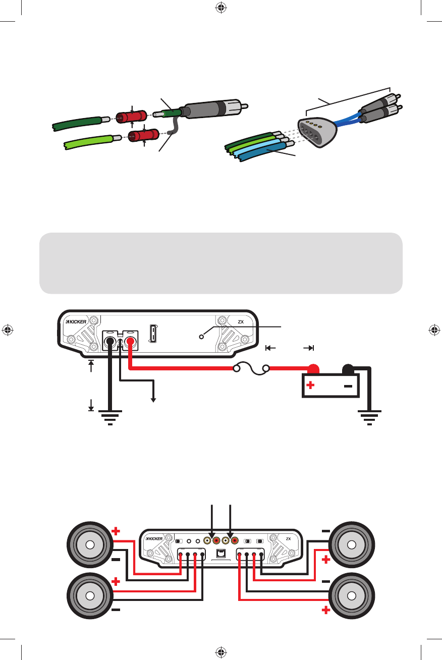 page of kicker stereo amplifier zx user guide 3
