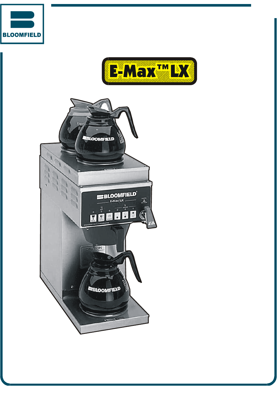 Bloomfield Coffee Maker Parts Manual : Bloomfield Coffeemaker 2274EX User Guide ManualsOnline.com