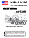 free ultra start remote starter user manuals manualsonline com rh auto manualsonline com Ultra Radio Guide Ultra Radio Guide