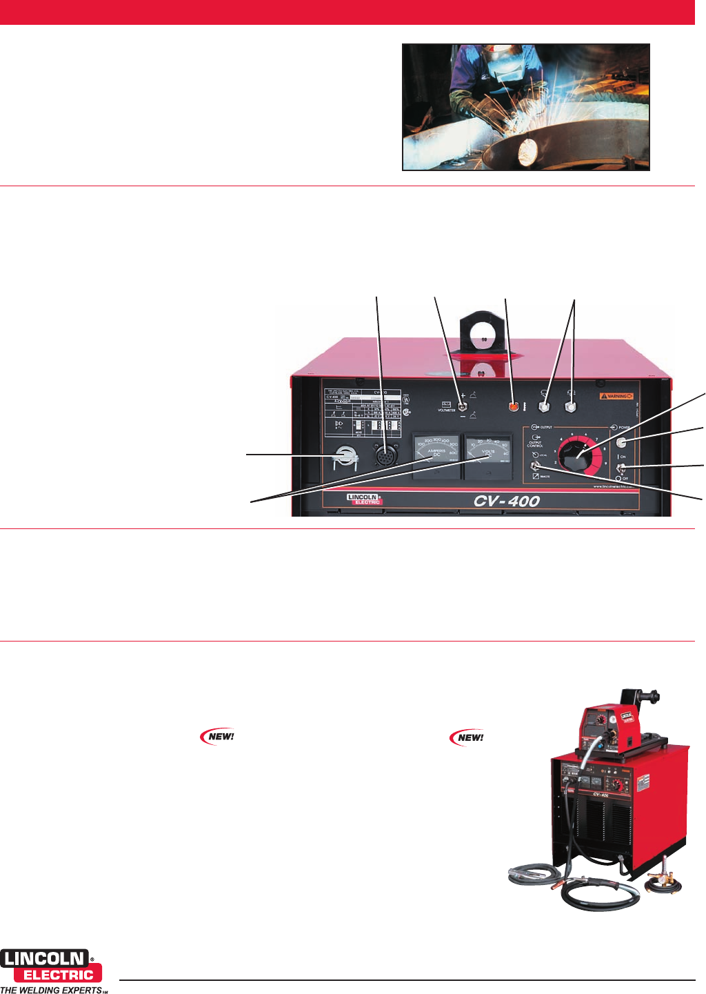 page 2 of lincoln electric welder cv 400 user guide manualsonline com rh powertool manualsonline com