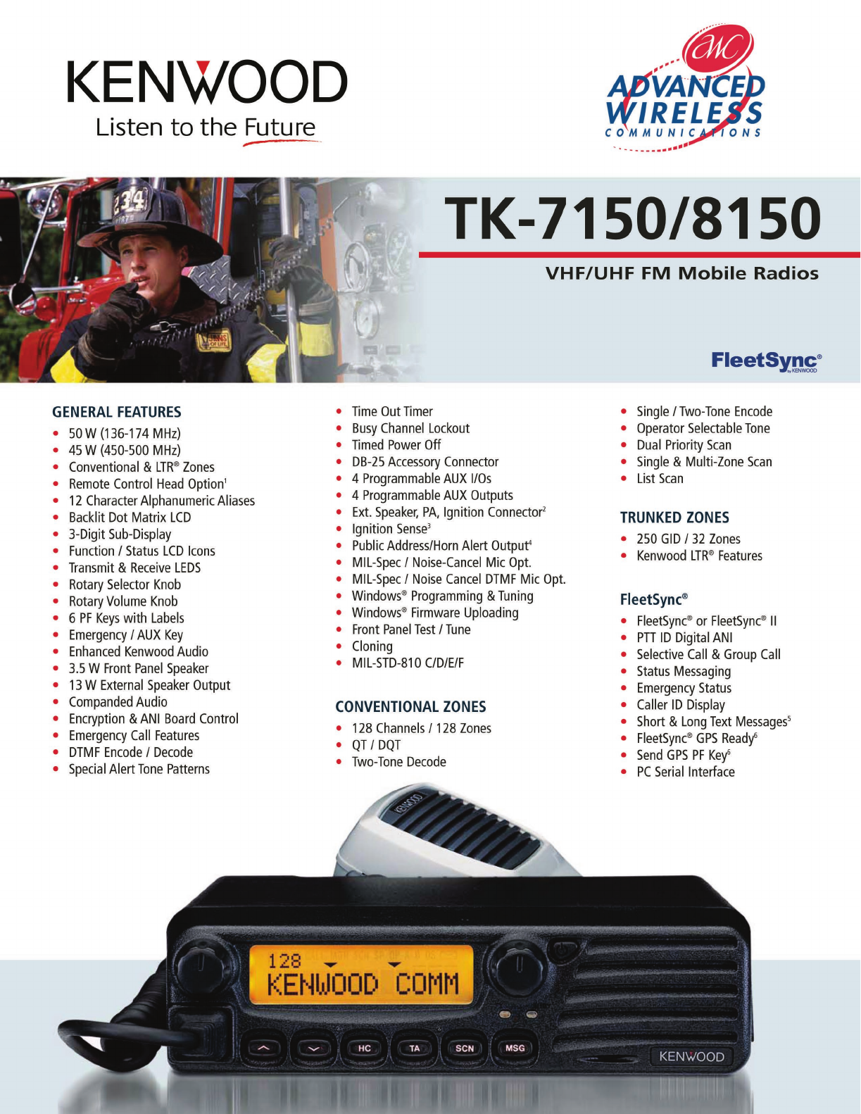 Advanced Wireless Solutions TK-8150 Portable Radio User Manual