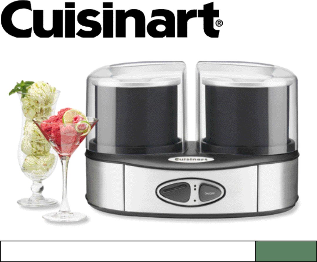 cuisinart frozen yogurt ice cream and sorbet maker instructions