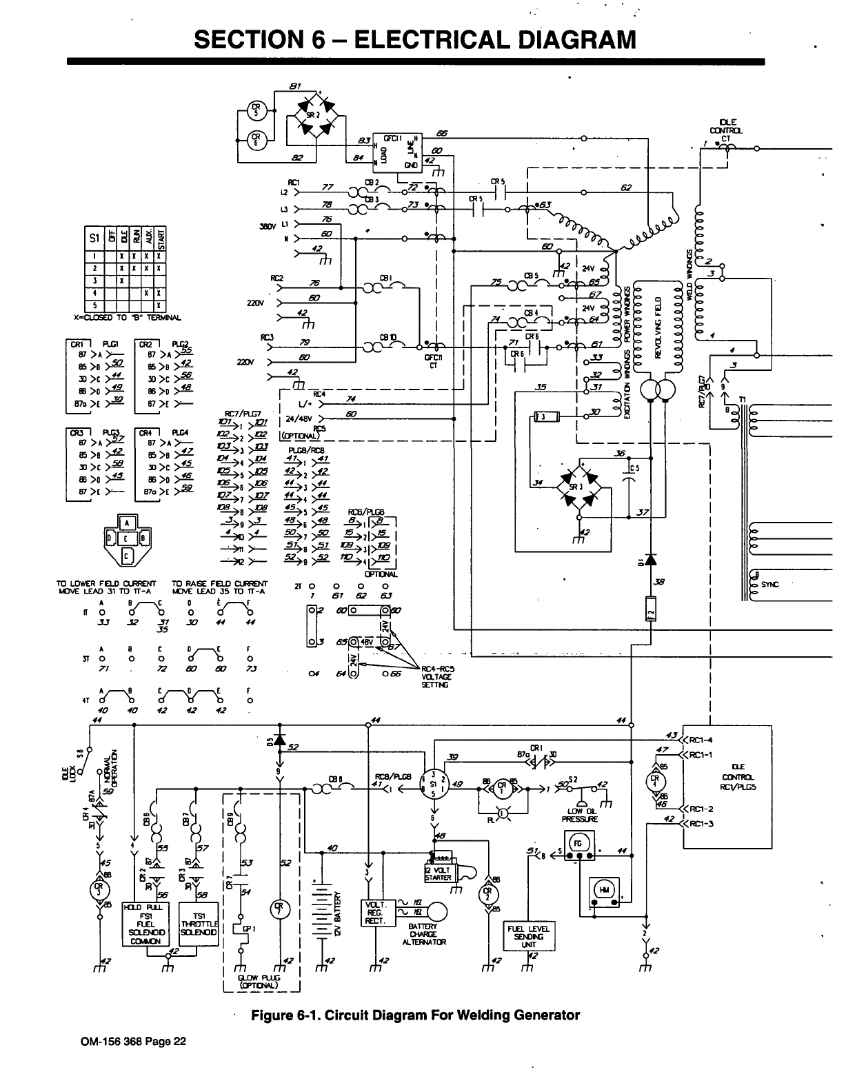 Page 30 Of Miller Electric Welding System Metro 300dx User Guide Generator Circuit Diagram Si