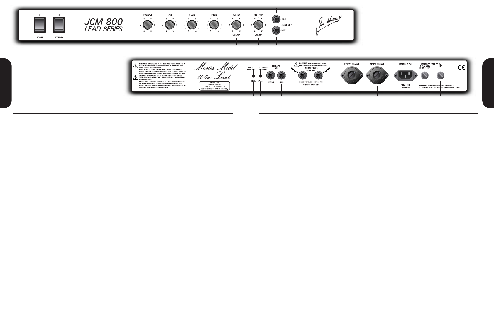 page 4 of marshall amplification stereo amplifier jcm800 user guide rh audio manualsonline com marshall mg100hcfx user manual marshall mg100dfx instruction manual