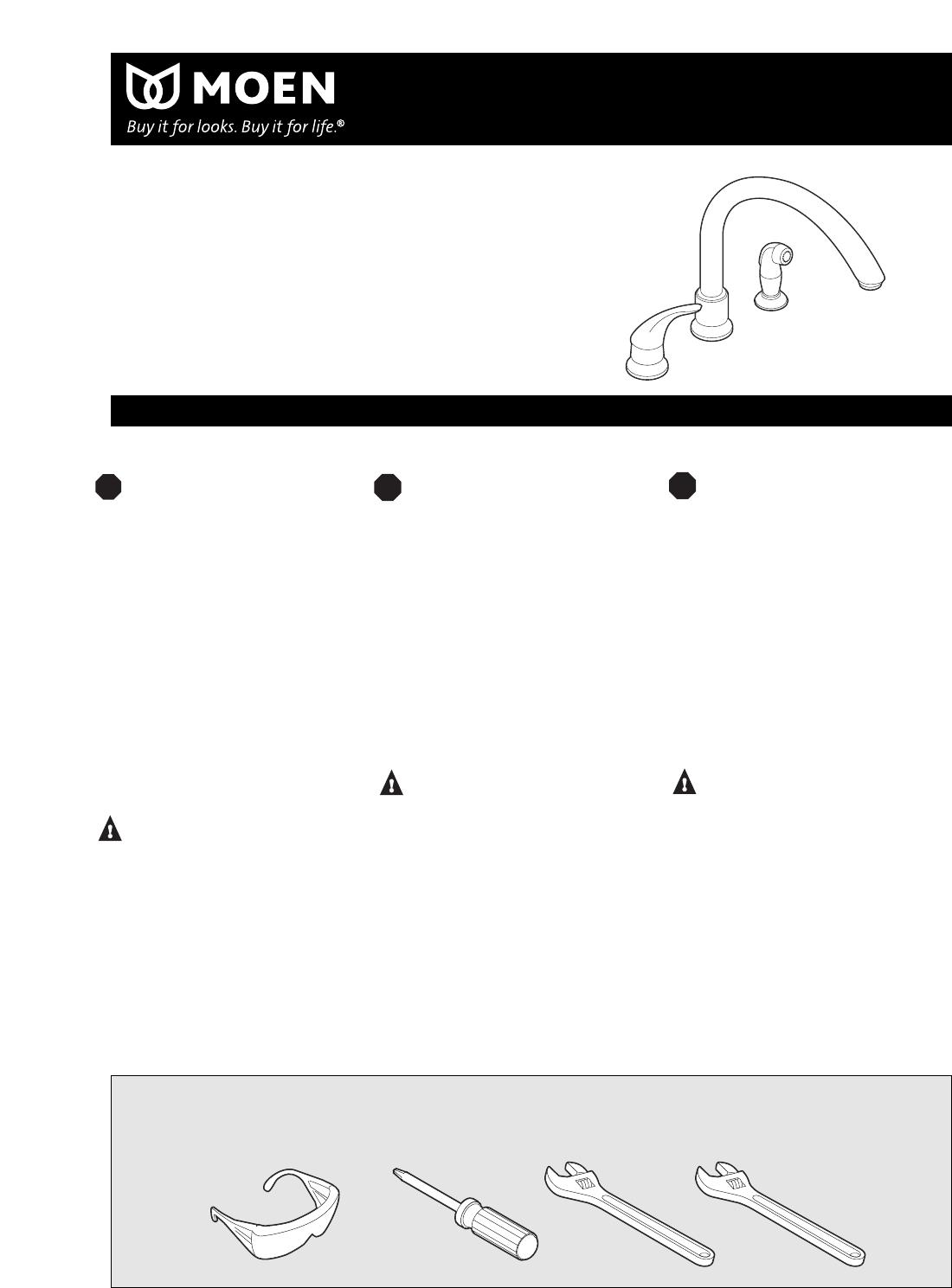 Moen Kitchen Faucet Model 7700 : Moen plumbing product user guide manuals
