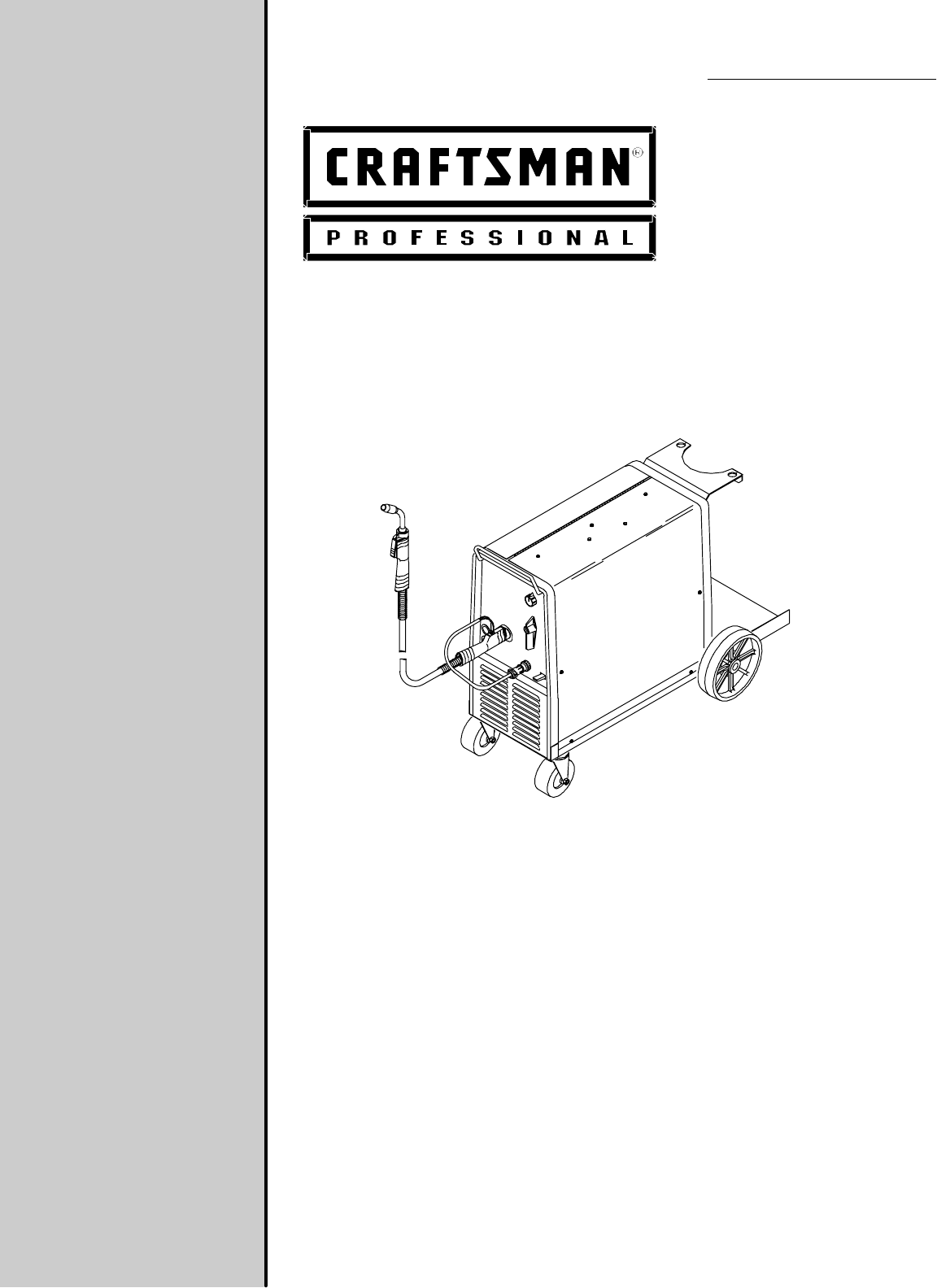 Craftsman Welder 117.205710 User Guide | ManualsOnline.com