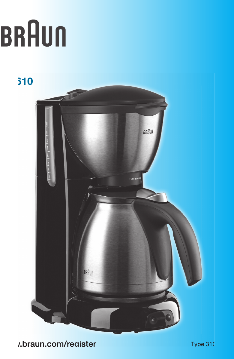 Braun Coffeemaker KF 610 User Guide ManualsOnline.com