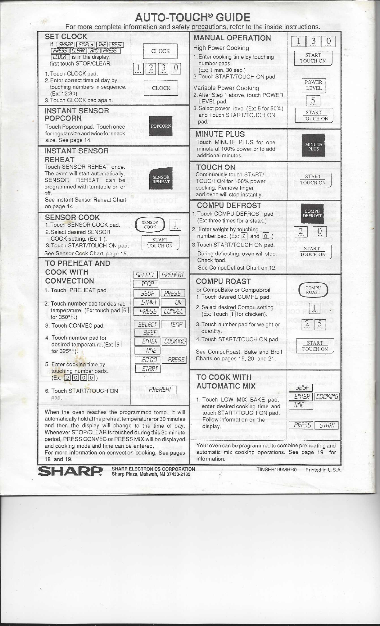 page 26 of sharp microwave oven r 1850a user guide manualsonline com rh kitchen manualsonline com