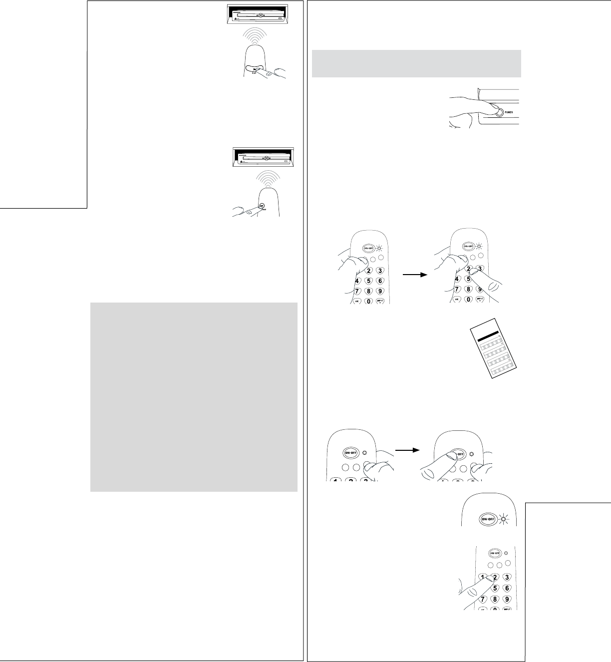 page 2 of rca universal remote crcr351 user guide. Black Bedroom Furniture Sets. Home Design Ideas