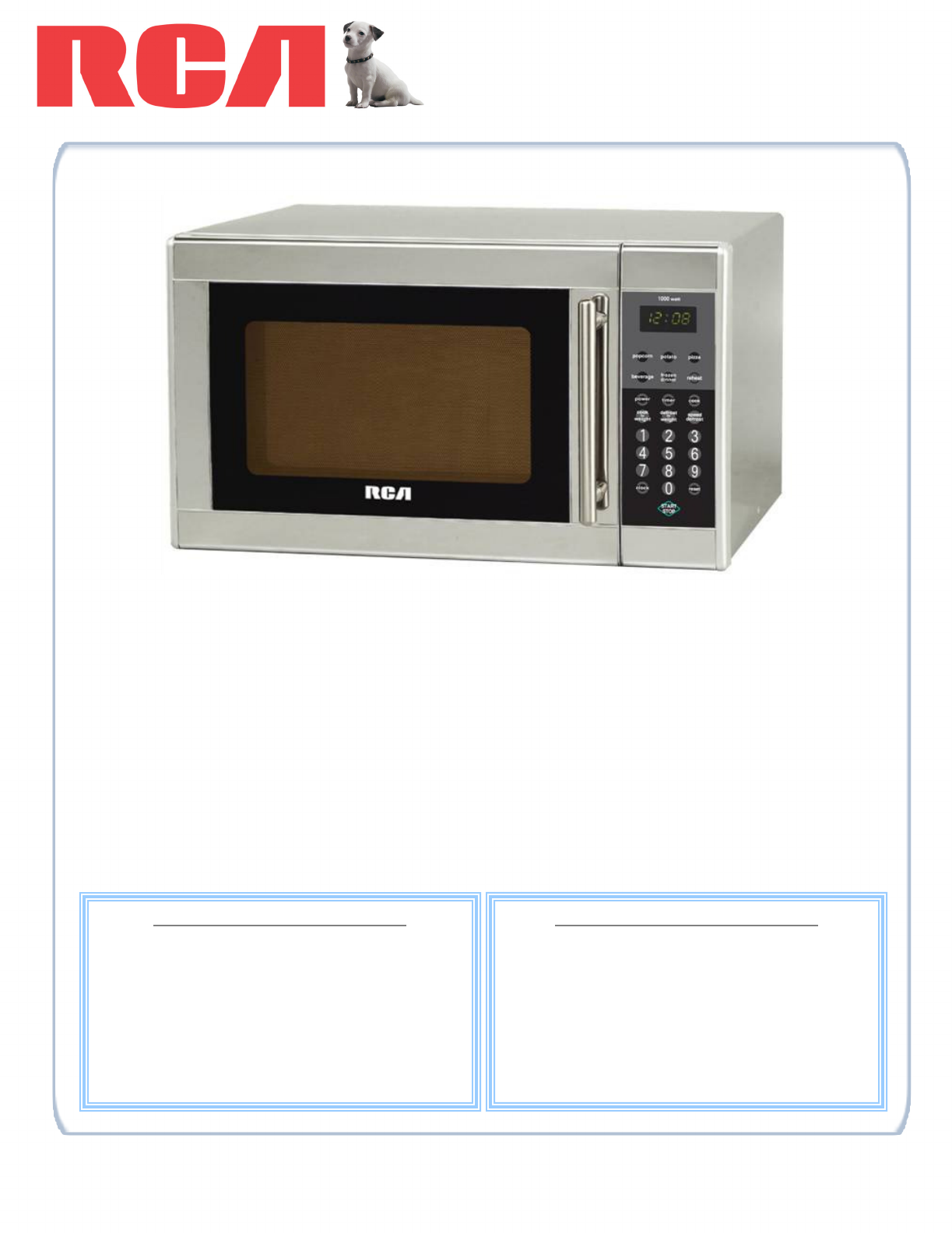 rca microwave oven rmw1168 user guide. Black Bedroom Furniture Sets. Home Design Ideas